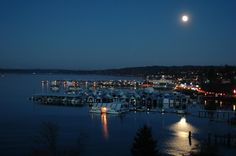 My Hometown ♥...Moonlight over Sinclair Inlet, Port Orchard, Washington. Photo by Don Nelson