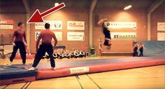 Gymnasternas volter imponerar, men vänta tills du ser den här killens reflexer. Wow!
