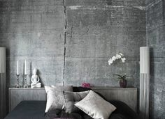 Industrieel Behang Slaapkamer : Woontrend go green! interieurs pinterest stenen muur en