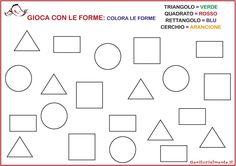 Schede sulle figure geometriche da scaricare | Genitorialmente Kids Learning, Pixel Art, Montessori, Activities For Kids, Illustration Art, Gallery Wall, Diagram, Coding, School