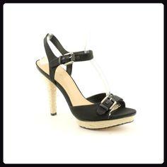 7438ed47559a Via Spiga Cain New Open Toe Platforms Sandals Shoes Black Womens