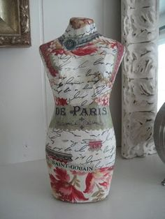 paper mache dress form...very shabby chic