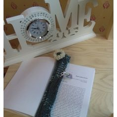 bookmark, green and white bookmark in wool (235 UAH) ❤ liked on Polyvore featuring home, home decor and office accessories