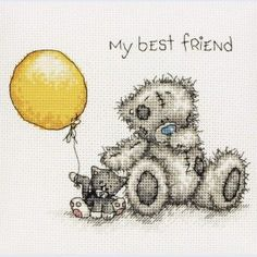 My Best Friend - Me To You - Tatty Teddy - counted cross stitch kit Coats Crafts