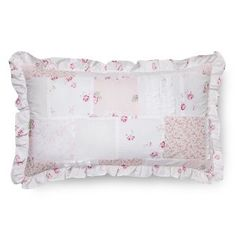Ditsy Patchwork Oblong Ruffle Pillow - Pink - Simply Shabby Chic®