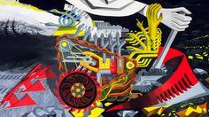 Стоковая иллюстрация «Abstract Painting About Creation World Evolution Evolution, Monster Trucks, Stock Photos, Abstract, World, Illustration, Painting, Image, Design