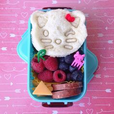 are you kitten me right meow? amelia will love her school snack today!  #marineparentsbento