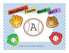 $This Baseball Theme Word Wall Packet will spruce up any room decor. This will be a big hit with many students who are into sports.Includes:*Baseball glove background with numbers and letters*Baseball's background with numbers and letters*Baseball bats background with numbers and letters