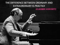 The difference between ORDINARY and EXTRAORDINARY is practice. Most people could be great musicians / guitarists / singers / even golf or ping pong experts if they just practiced with dedication and determination to keep going toward their GOAL. #DdO:) On A Lighter Note - Piano. And Theory Lessons. #ENCOURAGEMENT WORDS.