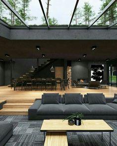 Home Room Design, Dream Home Design, Modern House Design, Home Interior Design, Dream House Interior, Luxury Homes Dream Houses, Modern Architecture House, Interior Architecture, Amazing Architecture