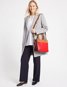 Faux Leather Tablet Tote Bag