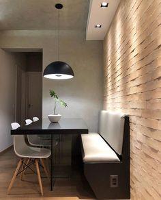 Small Apartment Interior, Cafe Interior, Kitchen Interior, Dining Nook, Dining Room Design, Minimal House Design, Minimalist Dining Room, Kitchen Modular, Home Decor Kitchen