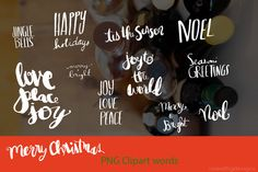 hand lettered holiday words by cherylwarrick on Creative Market