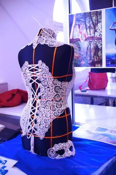 3ders.org - Swiss designers harness 3D printing pen power for gorgeous 3D printed dresses and corsets | 3D Printer News & 3D Printing News