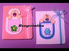 ronycreativa: INVITACIONES PARA BABY SHOWER O BAUTIZO / DOS LINDAS Y ORIGINALES IDEAS