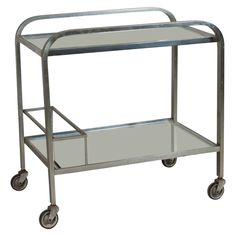 1930s Mirrored Serving Cart   From a unique collection of antique and modern serving tables at https://www.1stdibs.com/furniture/tables/serving-tables/