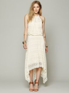 Free People FP X Wild Flower Halter Dress at Free People Clothing Boutique
