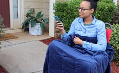 Equiilibra Truly Portable Weighted Blanket can go with you anywhere Seven Pounds, Bed Rest Pillow, Weighted Blanket, Minky Fabric, Bean Bag Chair, Comforters, Things To Come, Creature Comforts, Quilts