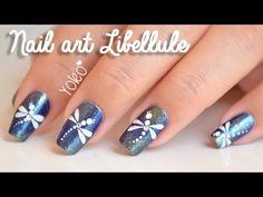 Nail art Libellule (Dragonfly nail art)