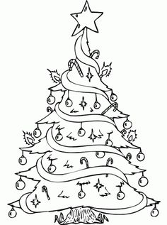 Looking For Some Christmas Cheer Plant Color Your Own Tree Coloring And Sketch Drawing Page Provides A Fun Festive Holiday Activity Everyone