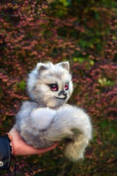 Pearl Fox Realistic toy, Forest Animals by MonkeyBusinessToys. Fantasy creatures & pets toys for kids and adults, Realistic Stuffed Animals toys for home decorating