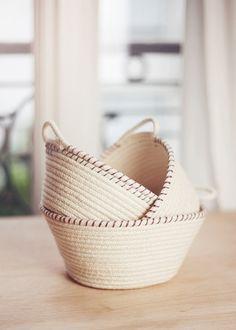 DIY: rope baskets