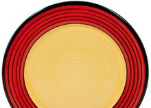 """Carousel Red"" -  by HF Coors-American Made Dinnerware. Restaurant quality/durability!"