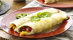 Try this twist on an enchilada using Old El Paso® refried black beans; vegetarians and meat eaters will love the delicious taste.