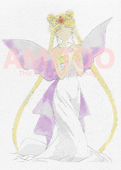 This is one article of the Sailor Moon Watercolor Collection II.  In the painting, you can see the watercolored image of Neo Queen Serenity, from Sailor Moon Classical Anime.  It is a great article to be printed by yourself for becoming a picture in the wall.