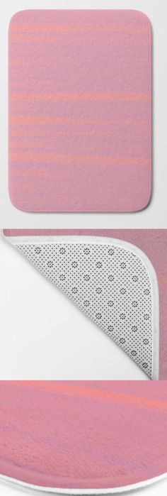 Environment in beauty. Home Decor and Interior design by @anoellejay @society6 Pink and Peach | Bath Mats