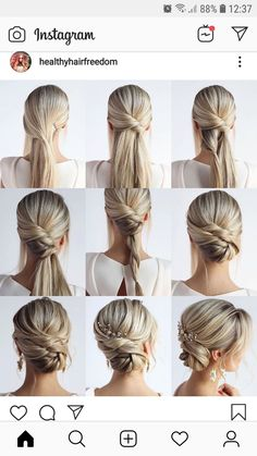 Newest Wedding Hairstyles Pictures Easy Tricks, recent hair ideas for all hair lengths There are thousands of different hair styles and color ideas and elegance that fit your personality, your life, your career choices and your facial features. Diy Wedding Hair, Wedding Guest Hairstyles, Wedding Hair And Makeup, Bridal Hair, Hair Makeup, Trending Hairstyles, Up Hairstyles, Braided Hairstyles, Hairstyles Pictures