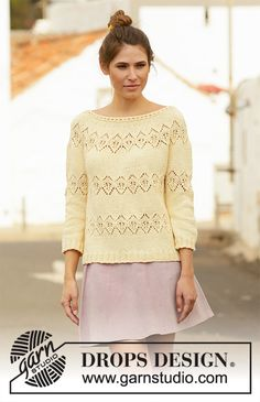 Women - Free knitting patterns and crochet patterns by DROPS Design Drops Design, Cardigan Pattern, Sweater Knitting Patterns, Free Knitting, Drops Patterns, Lace Patterns, Crochet Patterns, Magazine Drops, Long Sleeve Tunic