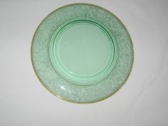 Green Depression Luncheon Plates From The 1930's - 1940's by TheBagLadyVintage on Etsy