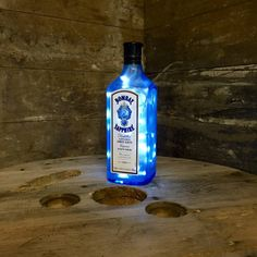 Reupcycled Bombay Sapphire Bottle Lamp
