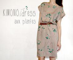 Kimono dress aux plantes // Pattern Runway
