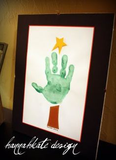 Handprint Christmas tree classroom-ideas