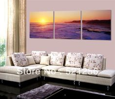 3 Panels Free Shipping Hot Sell Wall Hanging Painting Natural Scenery Decorative Art Picture Paint on Canvas Prints BLAP03 $30.20