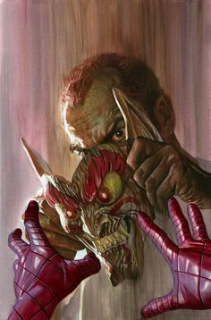 Norman Osborn with Japanese goblin mask by Alex Ross