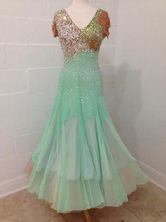 2bf5bce5181b DSI Mint Smooth/Standard Ballroom Gown size M 4-8 Ballroom Gowns, Dress