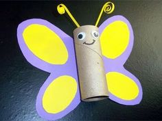 Recycled Kids Crafts: Paper Towel Tube Butterfly