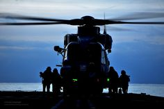 Royal Navy Merlin Helicopter Prepares to Takeoff from RFA Argus by Defence Images, via Flickr