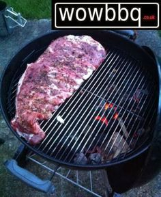 Ribs for Lunch! Weber Bbq, Gas Bbq, Grill Pan, Ribs, Grilling, Lunch, Recipes, Weber Charcoal Grill