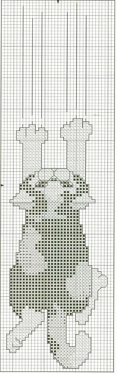 Scratching cat free cross stitch pattern