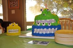 Him & Her: TY's PARTY  #monster cake #monster party  #1st birthday