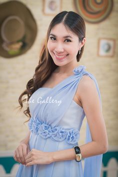 Blue Elegant Dress for Evening Event  For more info : pls visit http://goodfeelingdress.lnwshop.com/