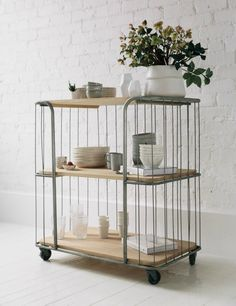 Three Tier Oak Trolley from Rose & Grey