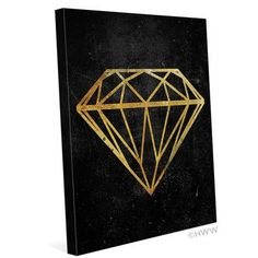 """Click Wall Art Diamond Graphic Art on Wrapped Canvas Size: 20"""" H x 16"""" W x 1.5"""" D"""