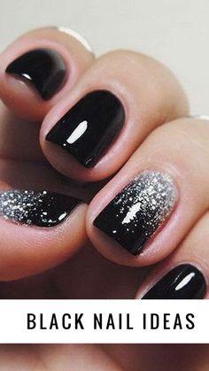 Black nails ideas, b