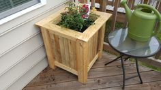 I built a version of Steve Ramsey's planter box. I built it using pocket hole screws instead of carriage bolts. I used wood pallets for the panels. I don't have a dado set or a thickness planner so I used pocket hole screws for that too. I lined the box with flower bed liner because I didn't want to get dirt all over my deck. Hopefully the rose bush survives, it was sitting in my garage for a week. #ForMereMortals