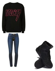 """""""💓"""" by melodyleighmitchell on Polyvore featuring McQ by Alexander McQueen, Frame Denim and Supra"""